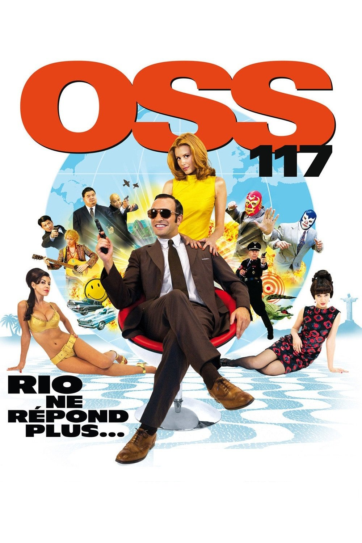 """Affiche du film """"OSS 117 : Rio ne répond plus"""""""